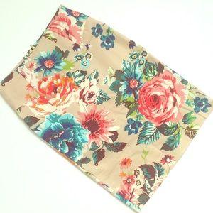 Gorgeous High Waist Floral Pencil Skirt Size 2/4